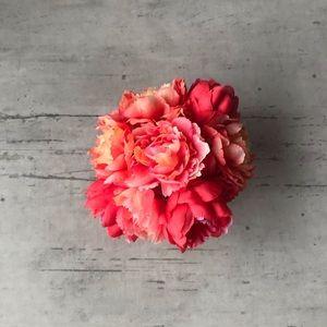 Faux Peony Floral Bouquet